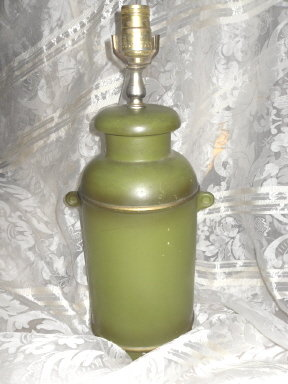 Vintage Milk Can Table Lamp