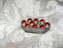 Vintage Glass Marble Automobile Reflector
