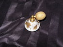 Vintage Satin Glass Perfume Bottle w/Atomizer **