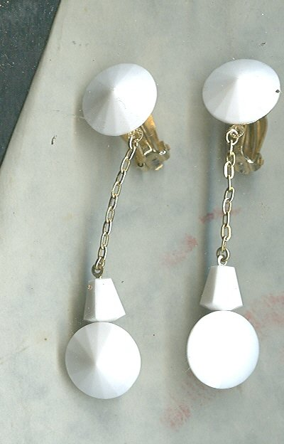 Vintage Lewis Segal Double Rivoli Dangle Earrings