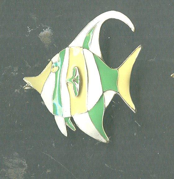 Vintage Giovanni Enamel Fish Pin