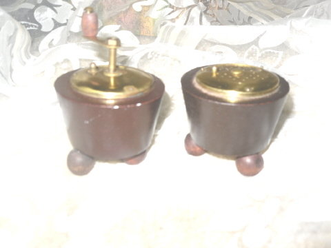 Vintage Wood Pepper Mill & Salt Shaker