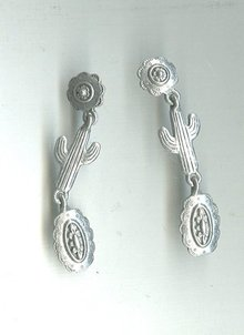 J.J. Silver Southwestern Earrings