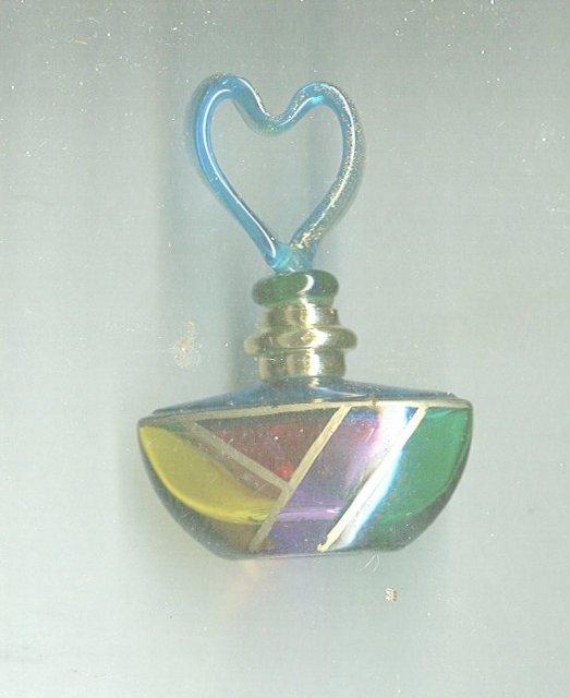 Miniature Art Glass Perfume Bottle