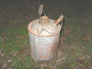 Vintage Metal Gas Can w/Wood Bail Handle