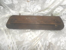 Antique Rustic Wooden Towel Holder