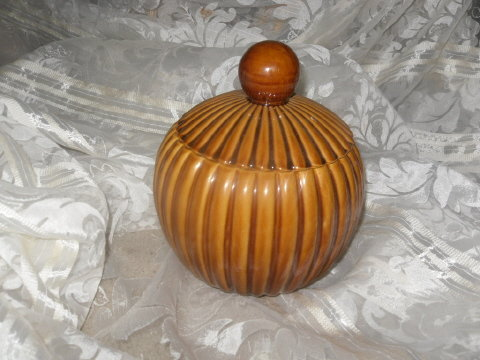 Vintage RETRO Round Cookie Jar