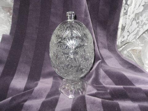 Vintage Crystal Egg Dish