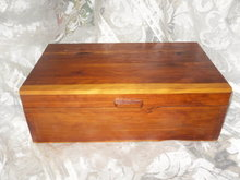 Vintage Cedar Jewelry Box or Storage Chest