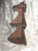 Vintage Wooden Corner Shelf