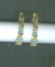 Vintage Florenza Hoop Earrings