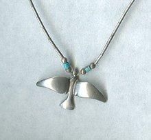 Vintage Sterling Silver Bird Necklace