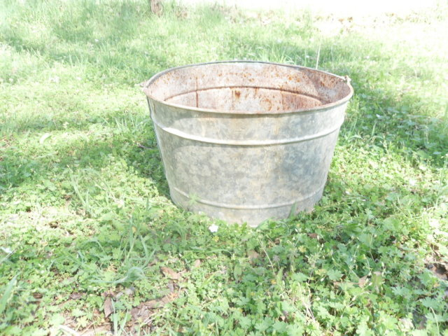 Large Vintage Metal Bucket