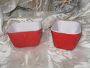 Vintage Red Pyrex Refrigerator Dish w/Lid