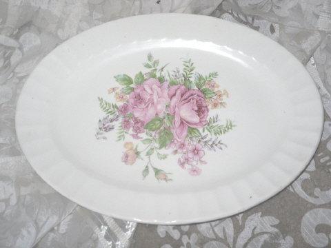 Vintage Edwin M Knowles Oval Platter
