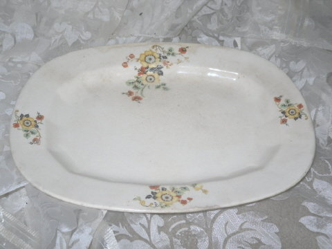 Vintage Edwin M Knowles Ivory Platter