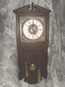 Vintage Wooden Case Wall Clock