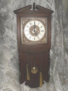 Vintage Wooden Case Wall Clock