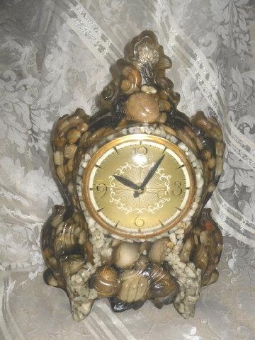 Vintage Sea Shell Mantel Clock