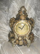 Vintage Sea Shell Mantel Clock