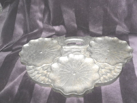 Vintage Hand Made Metal Dish or Tray