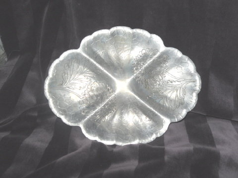 Vintage Aluminum Dish made by The Foreman Family Inc.