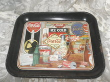 Vintage 1985 Metal Coca-Cola Serving Tray