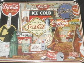 Vintage 1985 Metal Coca-Cola Serving Tray