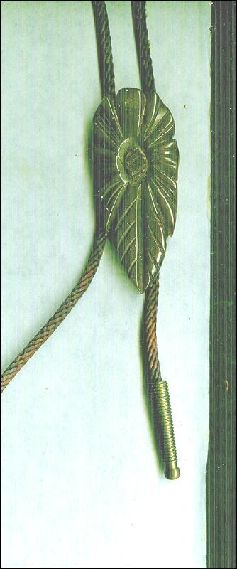 Vintage Carved Bakelite Bolo Tie