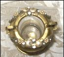 Vintage Jeweled Glass Toothpick Holder  **LOOK**