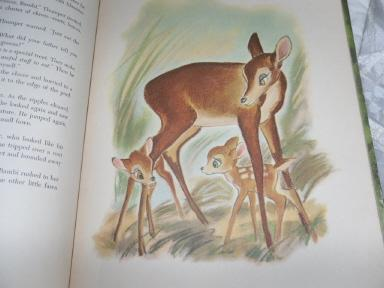 Vintage  1941 First Edition Walt Disney Bambi Book w/Lithograph Illustrations