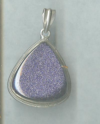 Sterling Silver  & Purple Pendant