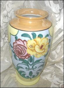 Vintage Peach Luster Lustreware Vase  **Large Size**