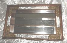 Vintage Large Shadowbox Mirrored Shelves