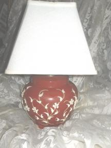 Vintage Glass w/Applied Decoration Table Lamp