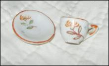 Vintage Miniature Porcelain Cup & Saucer **Made in Japan