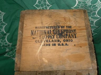 Vintage National Telephone Company Wood Crate
