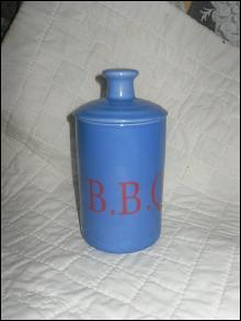 Ceramic Bar-B-Que Sauce Jar w/Brush
