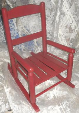 Child's Red Rocking Chair