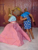 SALE 1940's Home Made Cloth and Wire Doll