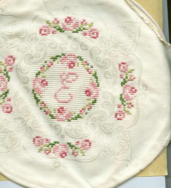 Beautiful Cross Stitched Pillow Top