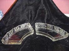 Vintage Set Depression Glass Snack Tray Inserts