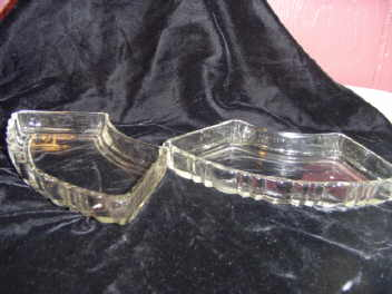 Vintage Set Depression Glass Snack Tray Inserts