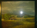 Large Framed Country Landscape Scene