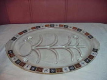 Vintage 1950's Large Inland Glass Platter