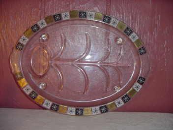 Vintage 1950's Large Inland Glass Platter