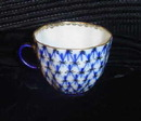 Antique Blue and White Meissen Teacup