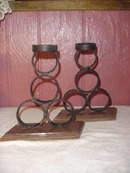 Vintage Arts & Crafts Wrought  Iron Holders