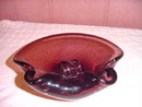 SALE Beautiful Amethyst Art Glass Dish