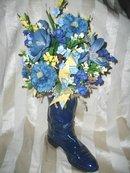 Cowboy Boot Flower Arrangement     **Most Colors Available